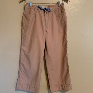 Horny Toad | Khaki Cropped Pants | 6